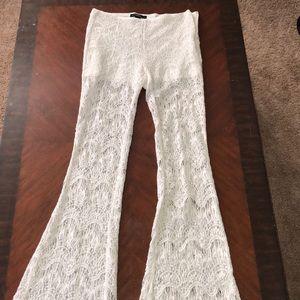 Lace bell bottom palazo pants